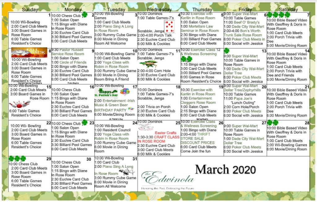 assisted living calendar edwinola